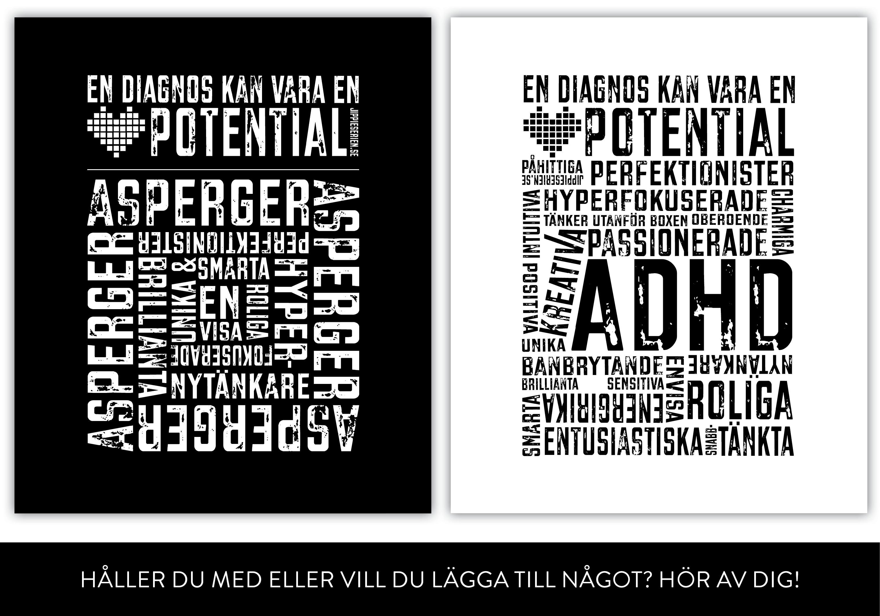 Uppåt väggarna. ADHD och Asperger-affischer