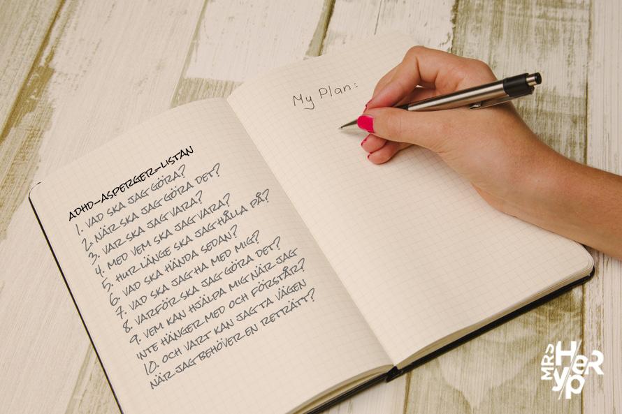 Checklista till lärare för stöttning av elever med ADHD och Asperger