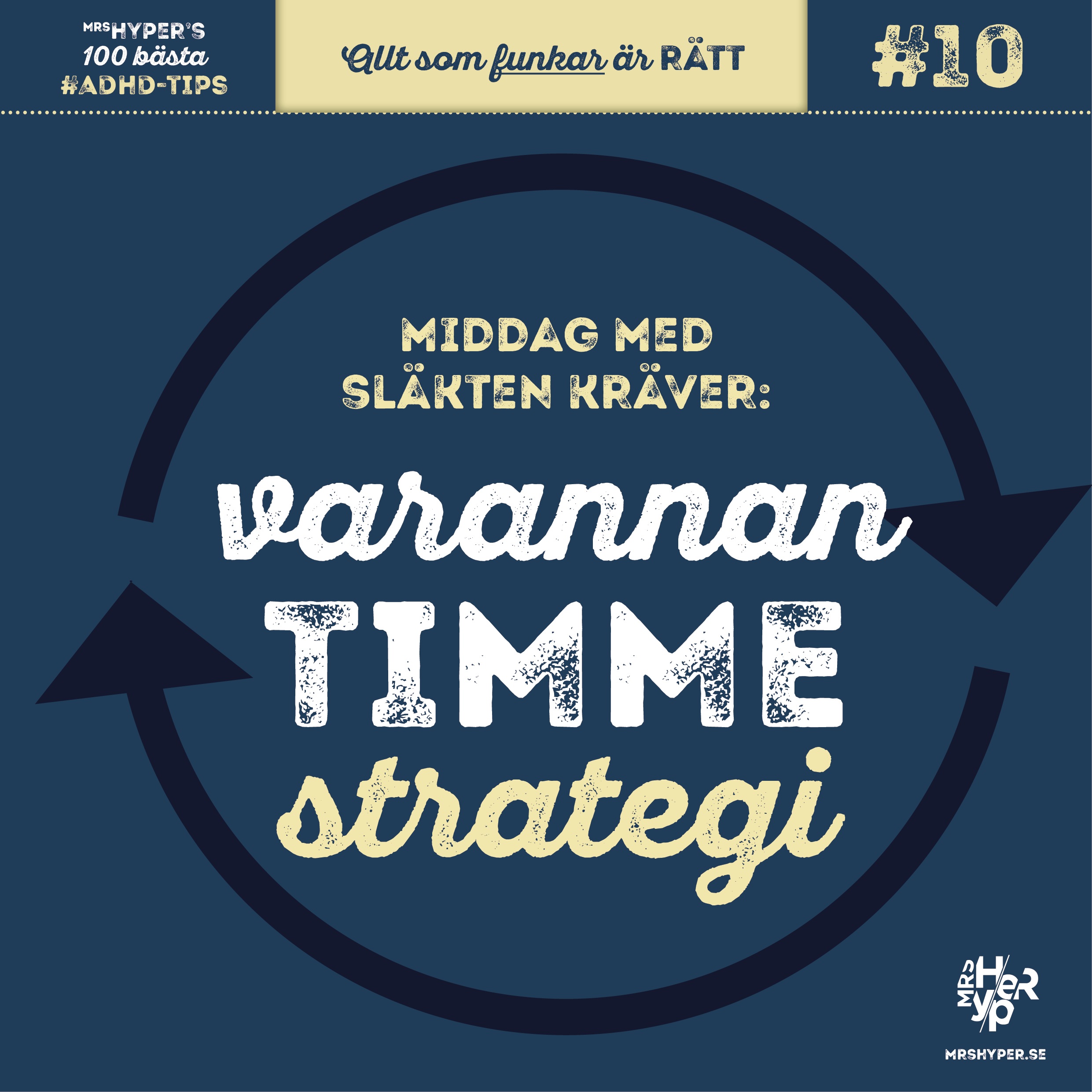 ADHD-tips #10. Varannan-timme-strategi