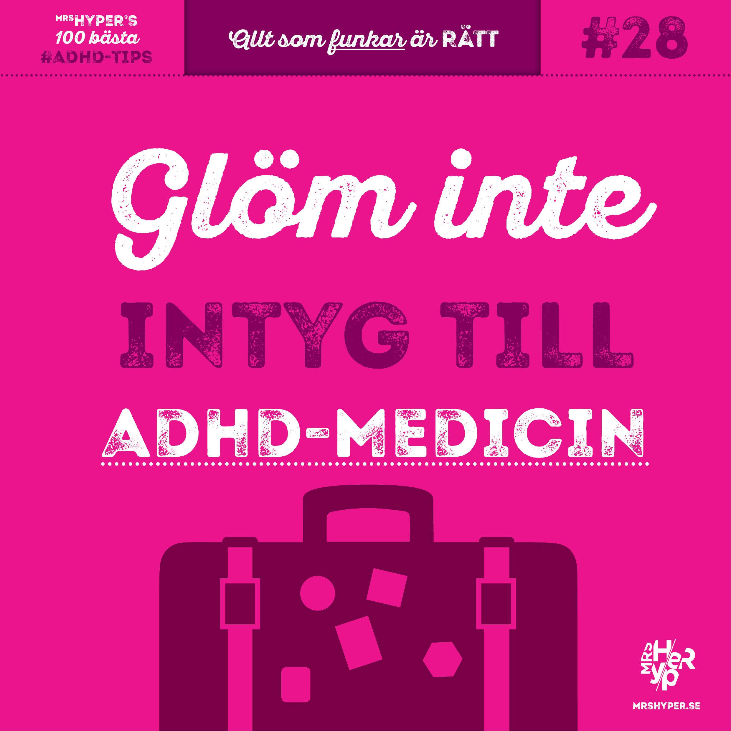 ADHD-tips #28. Resa med adhd-medicin