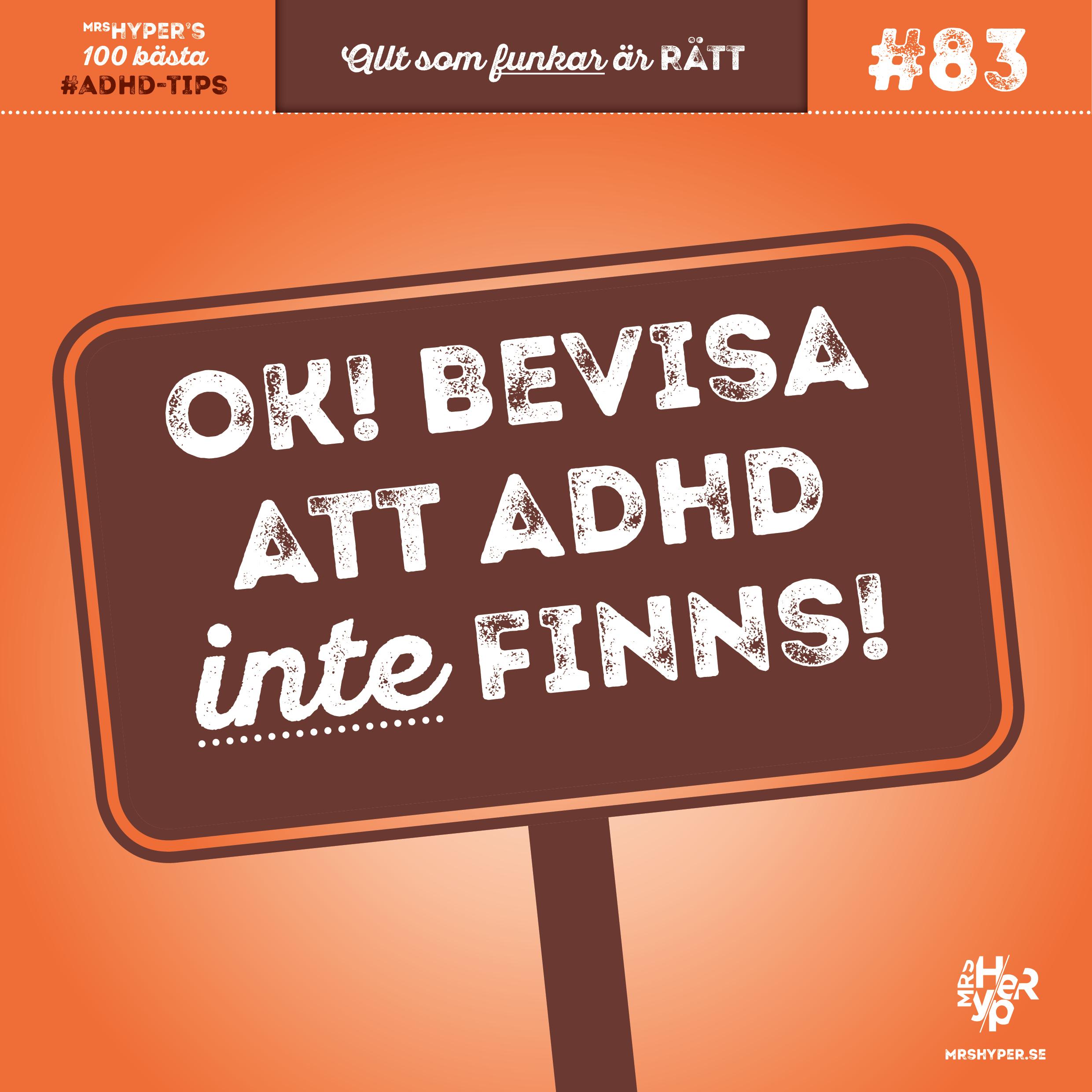 """ADHD-tips #83. Att hantera """"ADHD-skeptiker"""""""