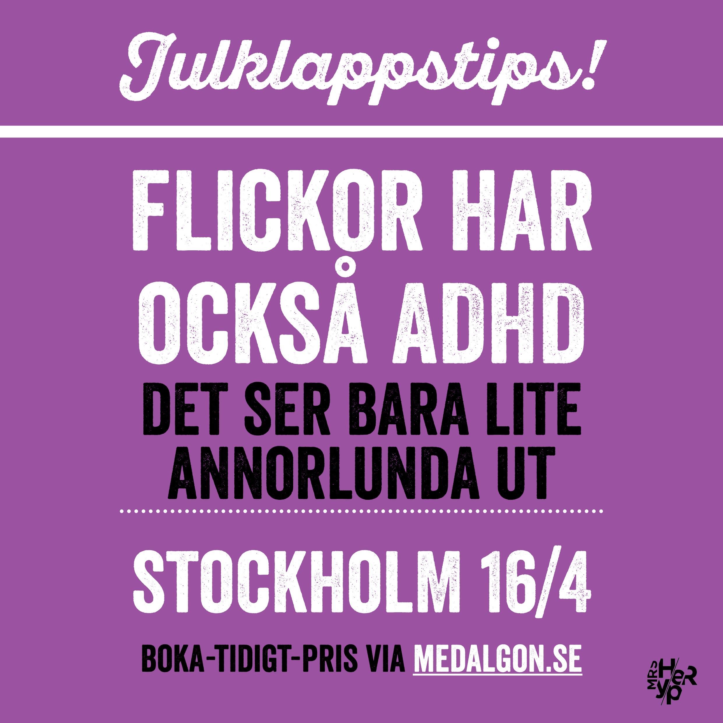 Julklappstips – föreläsning Stockholm 16 april 2018