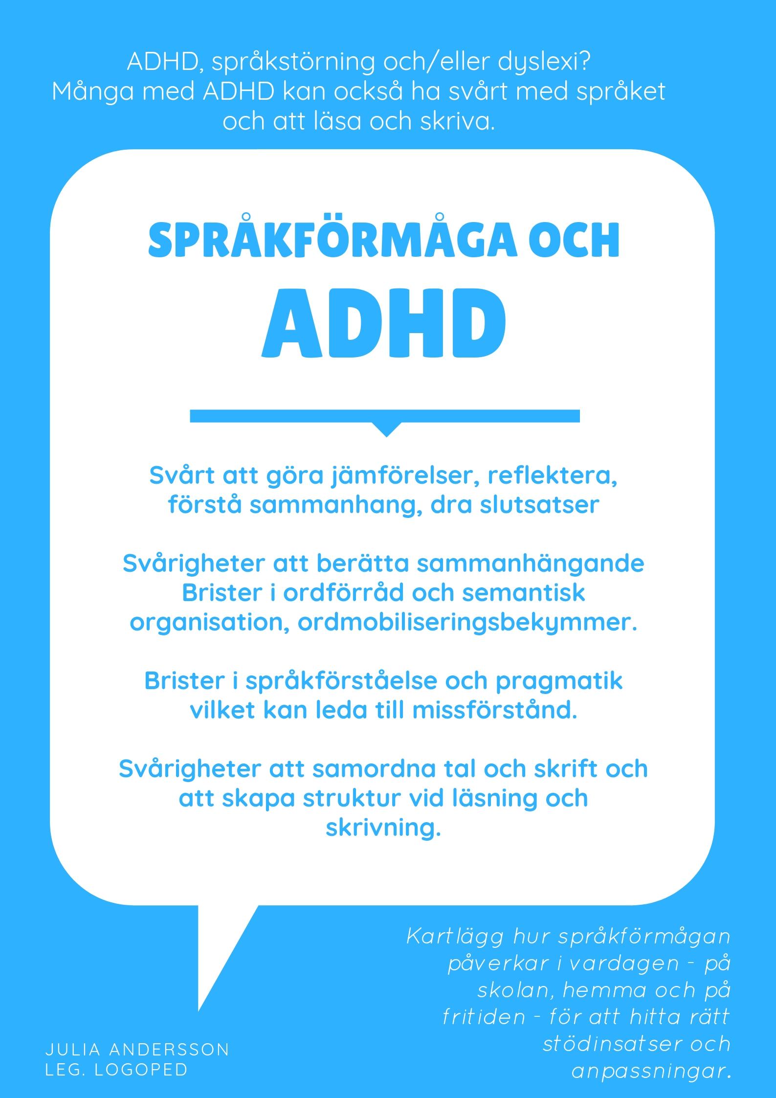 ADHD och språkförmåga