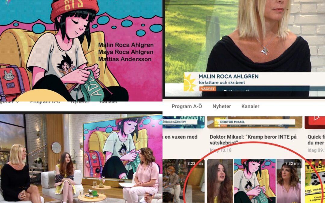 Ny barnbok om ADD uppmärksammades på TV4 Nyhetsmorgon i dag